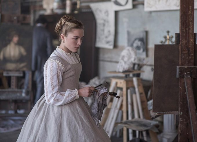 Amy March (Florence Pugh) in Greta Gerwig's LITTLE WOMEN.
